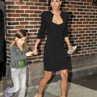 "Courteney Cox holds hands with daughter Coco Riley while leaving ""The Late Show with David Letterman"""